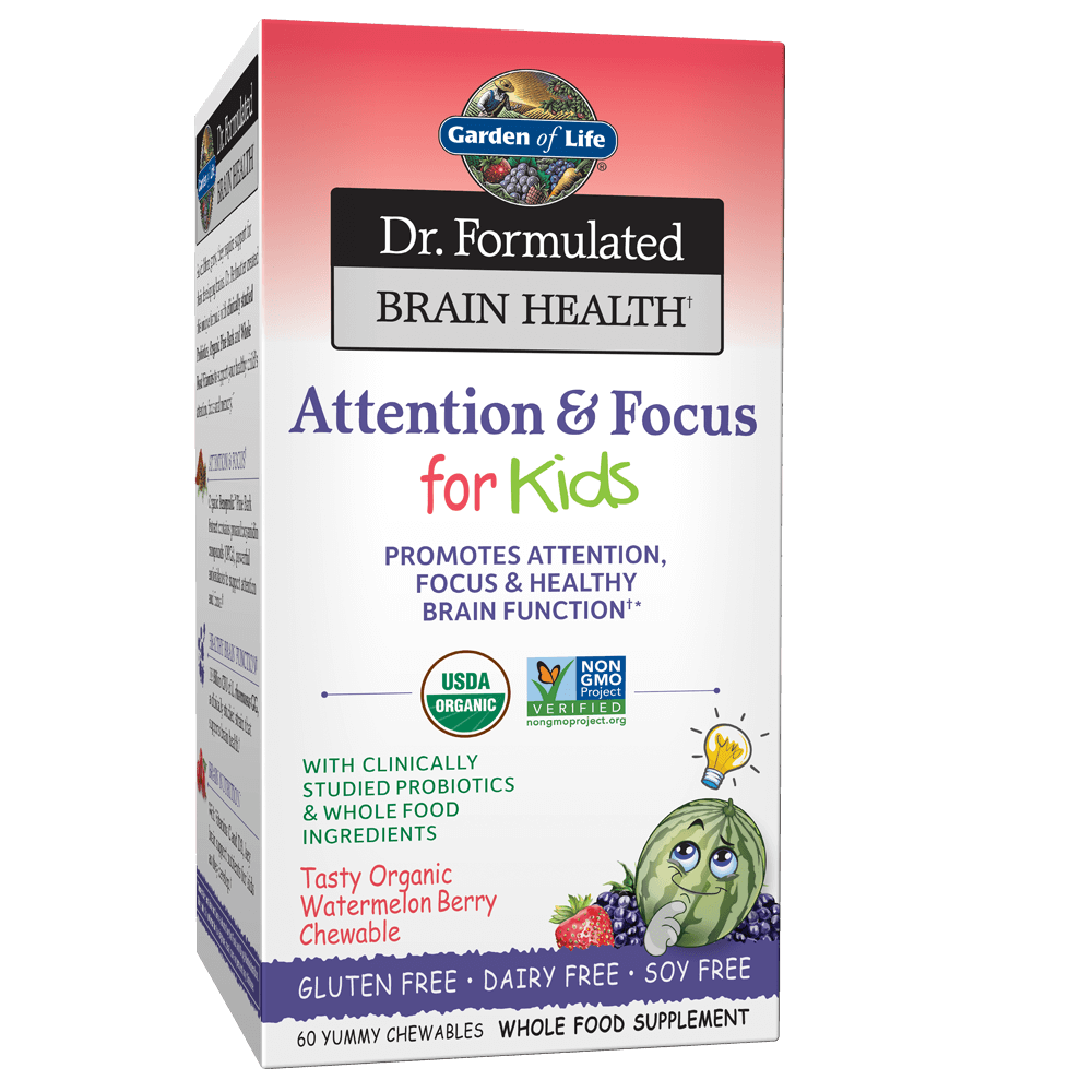 Garden of Life Dr Formulated Brain Health Memory and Focus for Kids