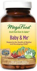 MegaFood Baby and Me  120 Tablets 4 Daily