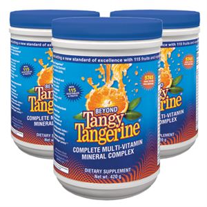 Youngevity Beyond Tangy Tangerine  3 of 420 gr canisters