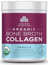 Ancient Nutrition Bone Broth Collagen Vanilla Organic 30 Servings