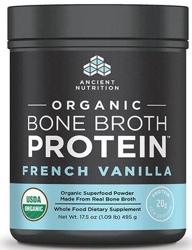 Ancient Nutrition Bone Broth Protein Vanilla Organic 17 Servings