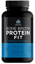 Ancient Nutrition Bone Broth Protein FIT Muscle Booster  180 Capsules