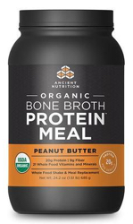 Ancient Nutrition Bone Broth Protein Meal Organic Peanut Butter 15 Servings