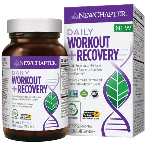 New Chapter Daily Workout and Recovery  60 Capsules