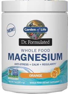Garden of Life Dr Formulated Magnesium  Orange  14.8 oz Powder