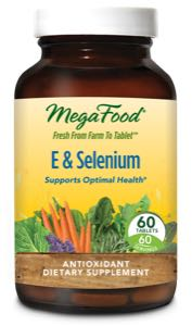 MegaFood E and Selenium  60 Tablets