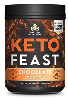 Ancient Nutrition KetoFeast Chocolate 15 Servings
