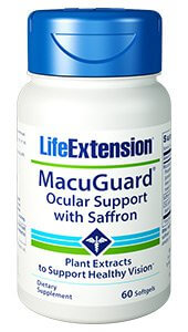 Life Extension MacuGuard Ocular Support   60 Soft Gels