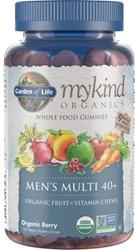 Garden of Life MyKind Organics Mens 40 Plus Gummy Multi  Berry 120 Fruit Chews