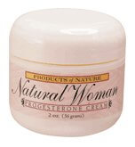 Products of Nature Natural Woman Progesterone Cream  2  oz Jar