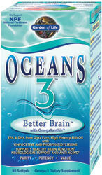 Garden of Life Oceans 3 Better Brain  90 Softgels