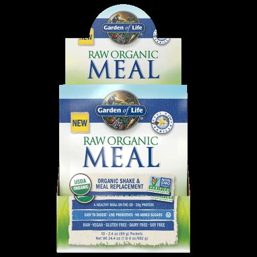 Garden of Life Raw Organic Meal Vanilla Box of 10 Single Serv. Packs