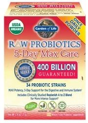 Garden of Life RAW Probiotics 5 Day Max Care  75 grams