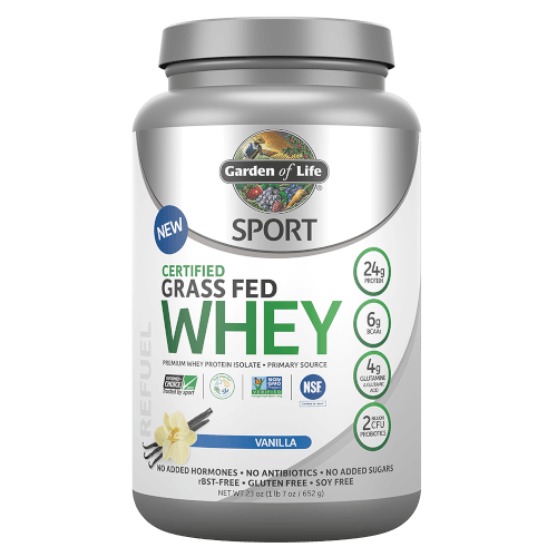 Garden of Life SPORT Certified Grass Fed Whey Vanilla 652 gm Powder