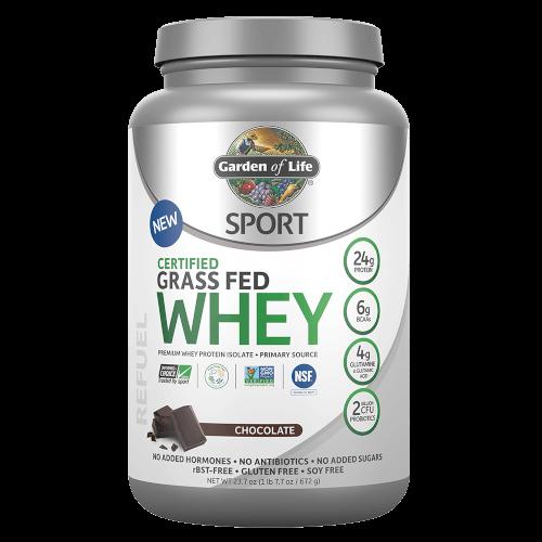 Garden of Life SPORT Certified Grass Fed Whey Chocolate 672 gm Powder