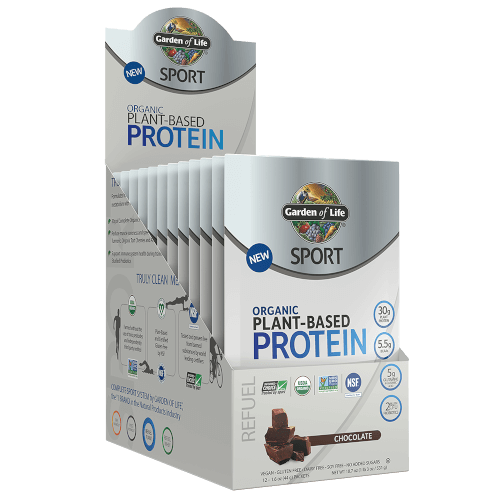 Garden of Life SPORT Organic Plant-Based Protein Chocolate 12 Single Serv Packs