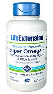 Life Extension Super Omega-3 EPA-DHA  120 Soft Gels