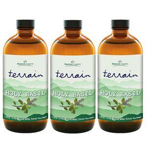 Beyond Organic Terrain Holy Basil  3 of 16 oz bottles
