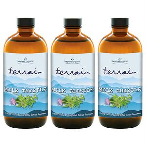 Beyond Organic Terrain Milk Thistle  3 of 16 oz bottles
