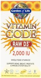 Garden of Life Vitamin Code RAW D3  2000 IU 120 Capsules