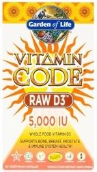 Garden of Life Vitamin Code Raw D3   5000 IU 60 Capsules