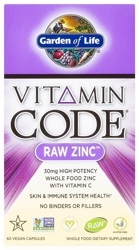 Garden of Life Vitamin Code Raw Zinc  60 Capsules