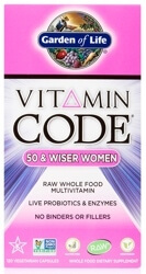 Garden of Life Vitamin Code Womens 50 and Wiser  120 Capsules